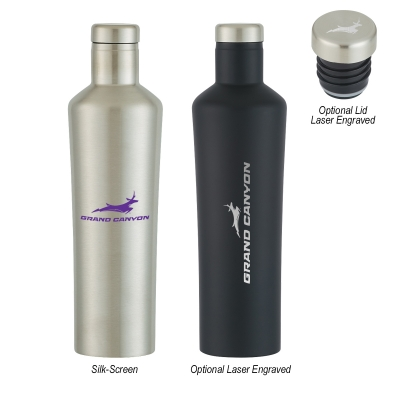 18 Oz. Dwindle Stainless Steel Bottle